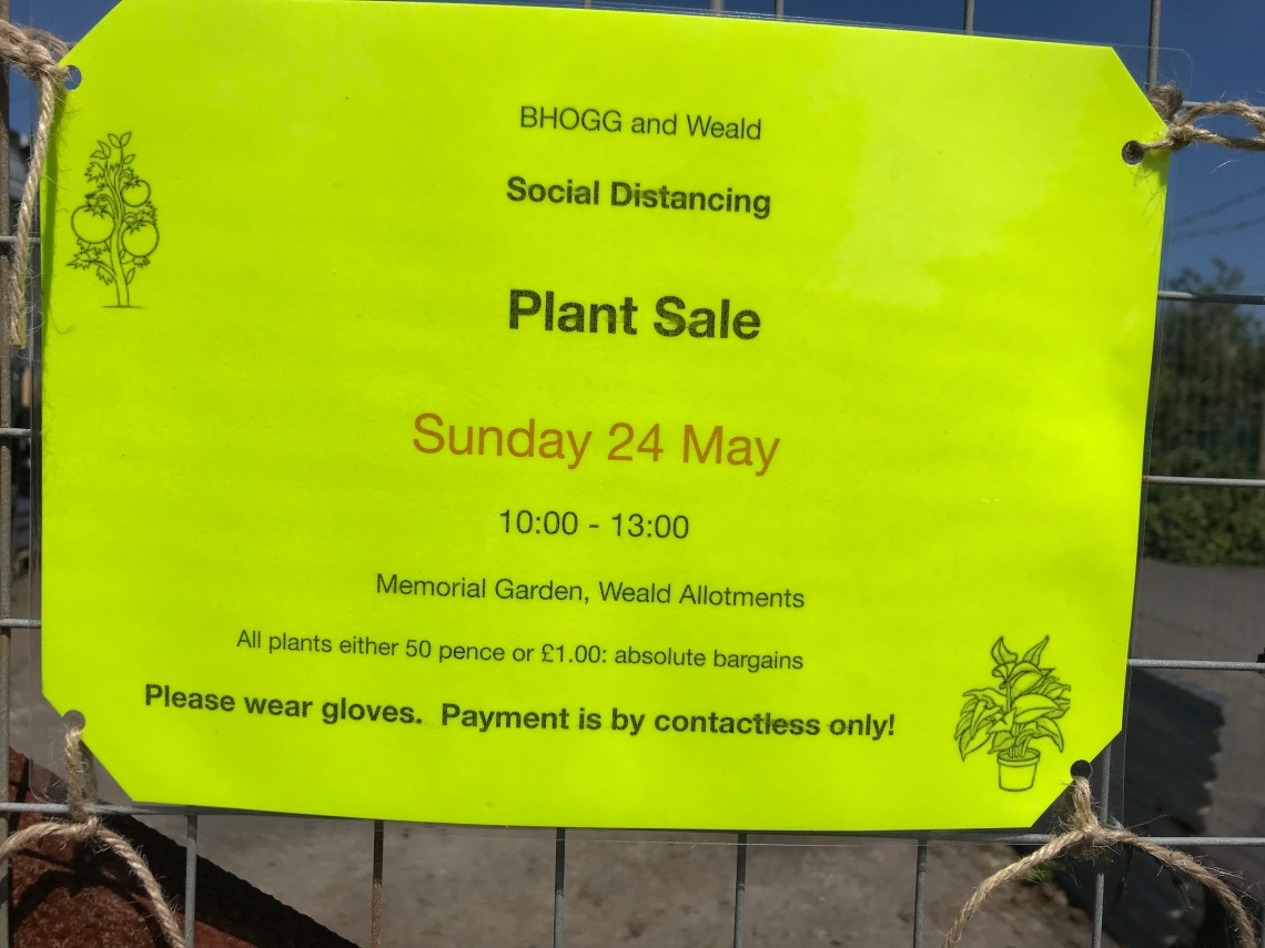 Plant Sale May 2020